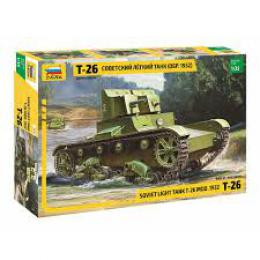 ZVEZDA 1/35 Soviet Light Tank T-26 Model 1932