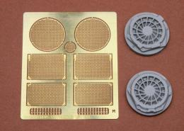 SBS MODEL 1/35 Sd.Kfz.171 Panther D early fan cover w/grills