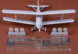SBS 1/72 DH-82 Tiger Moth - Rigging wire & wheel set