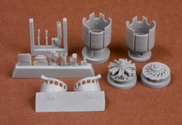 SBS MODEL 1/72 Fiat G.50 Engine&cowling set for FLY