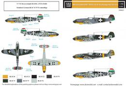 SBS 1/48 Decal Bf-109G-2&G-4 in Hungarian Service