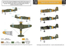 SBS 1/48 Decal Fiat G.50 (Finnish Service)