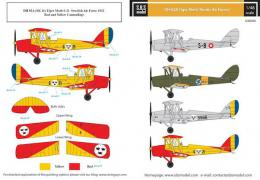 SBS 1/48 Decal DH-82A Tiger Moth Nordic Air Forces