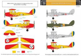 SBS 1/72 Decal DH-82A Tiger Moth Nordic Air Forces