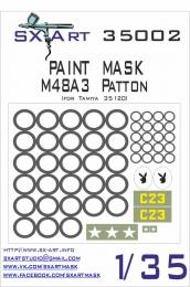 SX-ART 1/35 Mask M48A3 Patton Painting Mask for TAM 35120