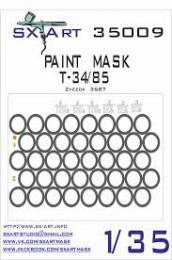 SX-ART 1/35 Mask T-34/85 Painting Mask for ZVE 3687
