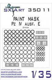 SX-ART 1/35 Mask Pz. IV Ausf. E Painting Mask for ZVE