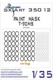 SX-ART 1/35 Mask T-90MS Painting Mask for ZVE