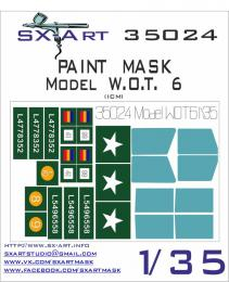 SX-ART 1/35 Mask Model W.O.T.6 Painting Mask for ICM