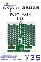 SX-ART 1/35 Mask T-28 Painting Mask for ZVE