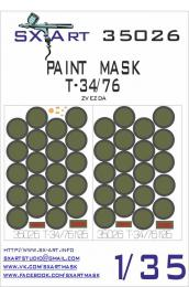 SX-ART 1/35 Mask T-34/76 Painting Mask for ZVE