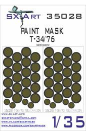 SX-ART 1/35 Mask T-34/76 Painting Mask for DRAG