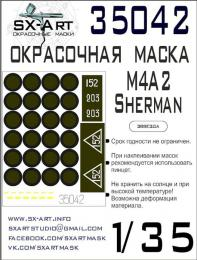 SX-ART 1/35 Mask M4A2 Sherman Painting mask for ZVE