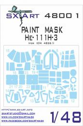 SX-ART 1/48 He-111H-3 Painting Mask for ICM 48261