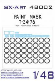 SX-ART 1/48 T-34/76 Painting Mask for HBB 84806