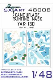 SX-ART 1/48 Yak-130 Camouflage Painting Mask for KTH