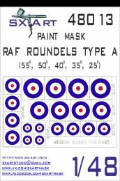 SX-ART 1/48 RAF Roundels Type A Painting Mask