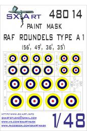 SX-ART 1/48 RAF Roundels Type A1 Painting Mask