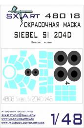 SX-ART 1/48 Siebel Si 204D Painting Mask for SH