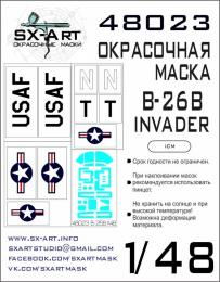 SX-ART 1/48 B-26B-50 Invader Painting Mask for ICM