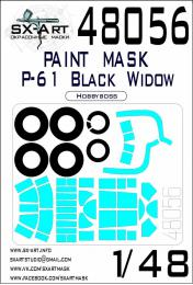 SX-ART 1/48 P-61 Black Widow Painting mask for HBB