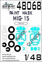 SX-ART 1/48 MiG-15 Painting mask for BRONCO