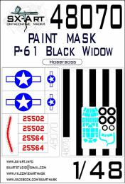 SX-ART 1/48 P-61 Black Widow Painting mask MAX for HBB