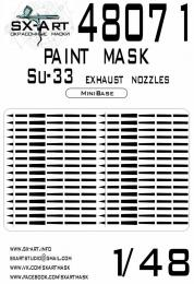 SX-ART 1/48 Su-33 Painting mask EXH.NOZZLES for MINIBASE