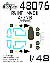 SX-ART 1/48 A-37B Painting mask for TRUMP
