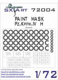 SX-ART 1/72 Pz.Kpfw.IV H Painting Mask for ZVE