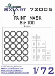 SX-ART 1/72 Su-100 Painting Mask for ZVE