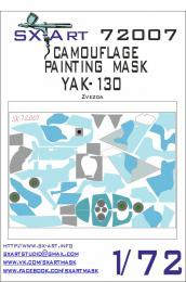 SX-ART 1/72 Yak-130 Camouflage Painting Mask for ZVE