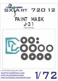 SX-ART 1/72 J-31 Painting Mask for TRU