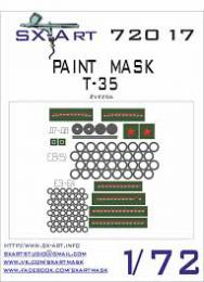 SX-ART 1/72 T-35 Painting Mask for ZVE
