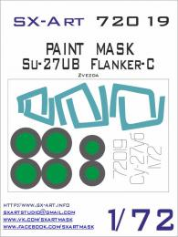 SX-ART 1/72 Su-27UB Flanker-C Painting Mask for ZVE