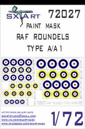 SX-ART 1/72 RAF Roundels Type A/A1 Painting Mask