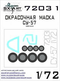 SX-ART 1/72 Su-57 Painting Mask for ZVE
