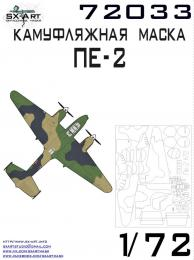 SX-ART 1/72 Pe-2 Camouflage Mask for ZVE
