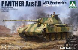 TAKOM 1/35  Panther Ausf. D Late w/ Full Int.&Zimm.