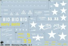 TORO Decals 1/35 35D59 PTO Sherman Tanks Vol.3