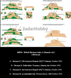 TORO Decals 1/48 British Shermans in El Alamein Pt.1