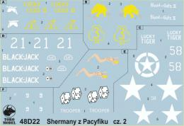TORO Decals 1/48 48D22 PTO Sherman Tanks Vol.2