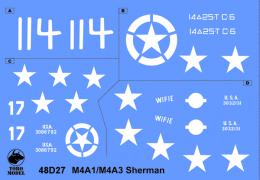 TORO Decals 48D27 1/48 US Sherman in Europe Pt.1