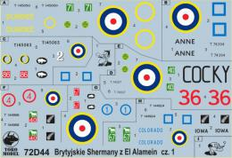 TORO Decals 1/72 72D44 British Sherman tanks at Alamein vol.1