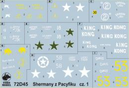 TORO Decals 1/72 72D45 PTO Sherman tanks vol.1