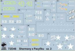 TORO Decals 1/72 72D46 PTO Sherman tanks vol.2
