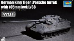 TRUMPETER 1/72 WOT King Tiger(Porsche tur)w/105mmkWH