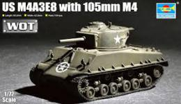 TRUMPETER 1/72  US M4A3E8 with 105 mm M4