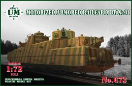 UMMT 1/72 Armored Railcar MBV-2