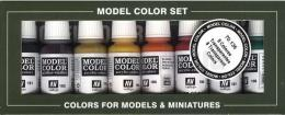 VALLEJO 70136 Transparent Colors Set Model Color 8x 17ml